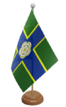 Yorkshire North Riding Desk / Table Flag with wooden stand and base